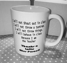 Novelty Printed mug End of year teachers by HeavensJunkyardShop Personalized Teacher Gifts, End Of Year, Novelty Print, Gifts For Him, My Etsy Shop, Homemade, Mugs, Printed, Handmade Gifts
