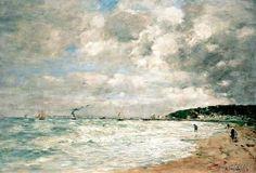 Eugene Boudin - Le rivage de Trouville