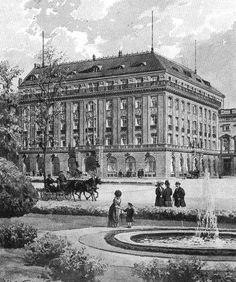 Die Fassade Hotel Adlon (ca 1911)