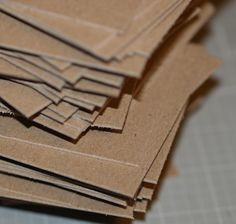 Heavyweight Chipboard ATC / ACEO Blanks (50) ... Art Cards . Kraft Cards . Art Supplies . Artist . Thick Cards . Assemblage . Mixed Media