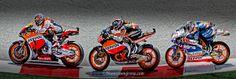 Padrosa,viales,Marquez,2012 circuit de catalunya.