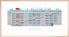 Paris - Centre Pompidou by Anonymous - art print from King & McGaw