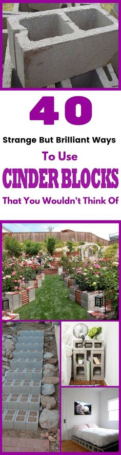 Here are some of the best ideas to use cinder blocks at home. They're great for home decor, garden decor, and more. These DIY project ideas are perfect for any home enthusiast to up their home's curb appeal! - Home Decoration Outdoor Projects, Garden Projects, Home Projects, Garden Ideas, Garden Boxes, Backyard Patio, Backyard Landscaping, Landscaping Ideas, Patio Table