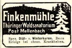 FINKENMÜHLE / ORTE (REISE / SCHULEN) - www.originalanzeigen.com