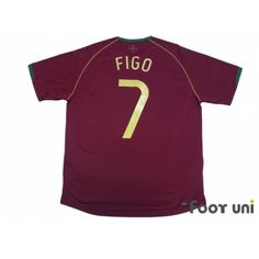 Portugal 2006 Home Shirt  7 Figo 35d1a1c94