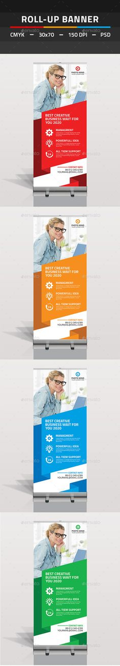 Roll Up Banner - Signage Print Templates Signage Design, Ad Design, Booth Design, Graphic Design, Bunting Design, Trade Show Design, Roll Up Design, Rollup Banner, Cool Business Cards