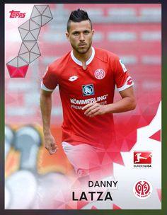 Danny Latza FSV Mainz 05 (Bundesliga) Red Parallel Card 2016 Topps KICK