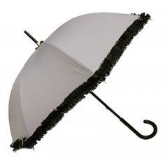 Embroidered Natural Linen Parasol | Umbrellas