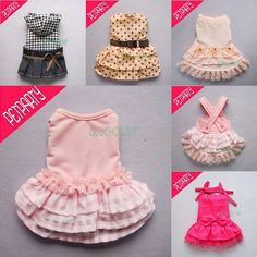 Princess Collection For Dog Clothes Cozy Pet Dress Shirt Skirt Free Shipping ★
