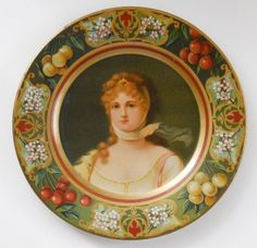 Vienna Art Plate made in the USA of tin - Queen Louise of Prussia