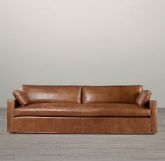 Belgian Track Arm Leather Sofas | Sofas | Restoration Hardware for family room. Leather a good option with kids?