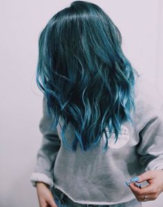 Turquoise, teal, beautiful blue hair!!
