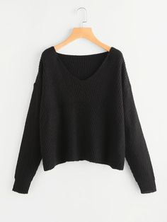 SheIn offers Drop Shoulder Rib Knit Boxy Jumper & more to fit your fashionable needs. Tumblr Outfits, Trendy Outfits, Cool Outfits, Fashion Outfits, Clothing Staples, Clothing Items, Winter Looks, Calvin Klein Outfits, Athleisure Outfits