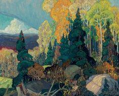 Franklin Carmichael : Autumn Hillside (1000 Piece Puzzle by Pomegranate)