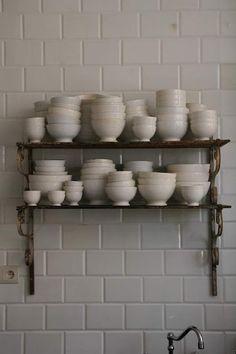 Antique latte coffee bowls
