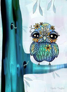 'Little Blue Bird' by Karin Taylor
