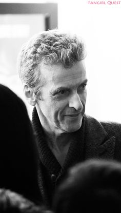 Peter Capaldi being awesome with fans at the Sherlock screening.