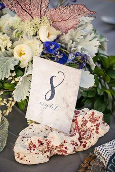 Coastal Sea Fan Inspired Wedding Stationery