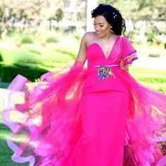 African Wedding Attire, African Attire, African Fashion Dresses, African Dress, African Wear, African Traditional Wear, African Traditional Wedding Dress, Tsonga Traditional Dresses, African Lace Styles