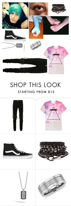"""""""Daerin"""" by totalloser ❤ liked on Polyvore featuring AMIRI, Univibe, Vans, John Hardy, Blue Nile, men's fashion and menswear"""