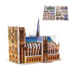 Mini Educational 3D Model Puzzle Jigsaw Notre-Dame de Paris DIY Toy 39 Pcs