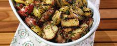 Simple Grilled Potato Salad with Grilled Lemon Vinaigrette Recipe by Kenji Lopez-Alt - The Chew The Chew Recipes, Gf Recipes, Food Network Recipes, Salad Recipes, Vegetarian Recipes, Cooking Recipes, Potato Recipes, Delicious Recipes, Bon Appetit