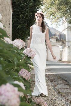 Top et jupe de mariée collection Au fil d'Elise www.aufildelise.com
