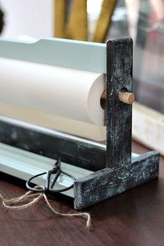 Vintage inspired DIY: how-to hack a Mala Ikea tabletop paper holder! @refreshrestyle1