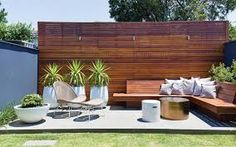 mid century modern patio ideas - Google Search Outdoor Rooms, Outdoor Living, Outdoor Decor, Outdoor Planters, Outdoor Walls, Backyard Patio Designs, Backyard Landscaping, Modern Patio Design, Modern Deck