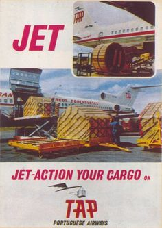 TAP Cargo Boeing 727 freighter - vintage ad Vintage Travel Posters, Vintage Airline, Boeing 727, Cargo Airlines, Best Ads, Commercial Aircraft, Poster Pictures, Air Lines, Paintings
