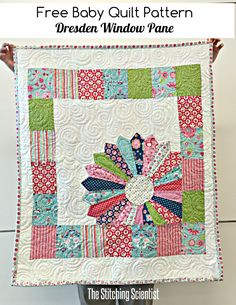 Free Baby Quilt Pattern: Dresden Window Pane featuring Flutterberry fabric designed by Melly & Me for Riley Blake Designs #iloverileyblake #rileyblakedesigns #flutterberry