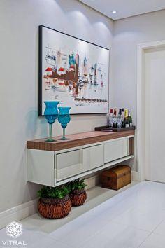 (De VITRAL arquitetura . interiores . iluminação) Apartment Entryway, Apartment Kitchen, Entryway Decor, Entrance Foyer, Kitchen On A Budget, Home Decor Kitchen, Foyer Design, House Design, Beauty Salon Interior