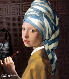 Girl with a Pearl Earring [Johannes Vermeer] Johannes Vermeer, Mona Lisa, Girl With Pearl Earring, Vermeer Paintings, Dutch Golden Age, Famous Art, Classical Art, Cultura Pop, Funny Art
