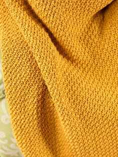With a sweet, simple knit and purl texture, Sigrid is a lovely blanket knit in Elba, a machine washable cotton yarn. Knitted Afghans, Knitted Baby Blankets, Knitted Blankets, Loom Patterns, Knitting Patterns, Sewing Patterns, Crocheting Patterns, Loom Knitting, Knitting Stitches