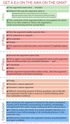 Score a 6.0 on #GMAT Essay - #Infographic - Get more GMAT tips on my website - www.businessenglishace.com