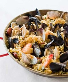 Seafood Paella- one of my favorites!