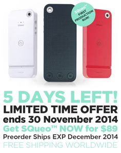 http://www.getsqueo.com/shop/ Limited Time #Offer ends 30 November 2014. Grab the first run of SQueo Bluetooth Speakers at $89 before they're gone! FREE SHIPPING WORLDWIDE! Get it now: http://www.getsqueo.com/shop/