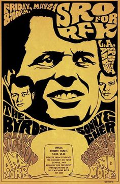 Bobby Kennedy benefit fund-raiser concert in Los Angeles. May 24, 1968 - Los Angeles Sports arena - I was a volunteer working here this night