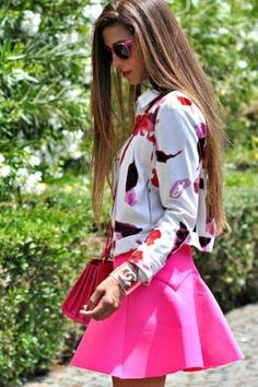 Colored Skirt Season Colored Skirt coloredskirt summer bright fabriziaspinelli Trovato su Styletorch