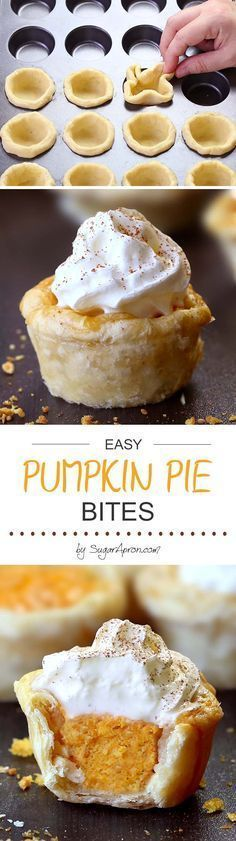 Pumpkin Pie Bites All the flavors of Homemade Pumpkin Pie packed into perfect portable fall dessert. Perfect recipe for Thanksgiving.All the flavors of Homemade Pumpkin Pie packed into perfect portable fall dessert. Perfect recipe for Thanksgiving. Dessert Party, Dessert Oreo, Low Carb Dessert, Pumpkin Dessert, Pumpkin Pie Cupcakes, Easy Pumpkin Pie, Homemade Pumpkin Pie, Pumpkin Recipes, Fall Recipes