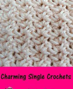 Meladoras Creations | Charming Single Crochets – Free Crochet Pattern #crochet #crocheting #Crochetstitch #freecrochetpattern #crochetpattern #crochettutorial #meladorascreations