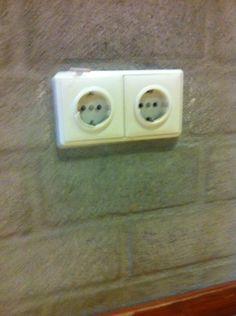 Structuur kunstmatig 2 stopcontact