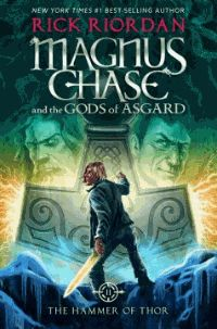 """""""Thor's hammer is missing again. The thunder god has a disturbing habit of misplacing his weapon--the mightiest force in the Nine Worlds. But this time the hammer isn't just lost, it has fallen into enemy hands. If Magnus Chase and his friends can't retrieve the hammer quickly, the mortal worlds will be defenseless against an onslaught of giants.""""--Amazon"""
