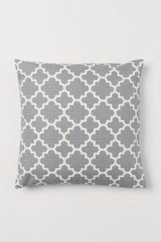 Slub-weave Cushion Cover - Gray/white patterned - Home All Cushion Covers, Pillow Covers, New Year Background Images, New Year Card Design, H & M Home, Christmas Information, Christmas History, Gift Card Shop, Cover Gray