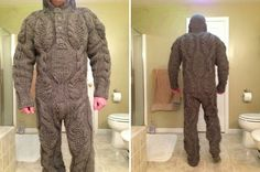 Funny pictures about Full body knitted suit for those harsh winter mornings. Oh, and cool pics about Full body knitted suit for those harsh winter mornings. Also, Full body knitted suit for those harsh winter mornings. Wool Sweaters, Knitting Projects, Knitting Humor, Crochet Projects, Knitting Patterns, Sewing Projects, Pull, Mens Suits, Full Body