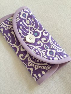 Keep your crochet hooks organized, ladies!  Crochet Hook Case  purple and turquoise Kate Spain Cuzco by thesewingmachine