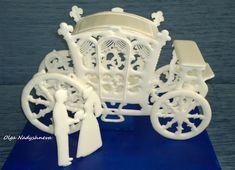 Dekorace svatební kočár * z královské  polevy.