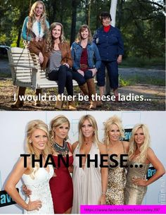 Even though I happen to be from Orange County, CA, I would DEFINITELY much rather hang with the Robertson ladies, they are way more my style!
