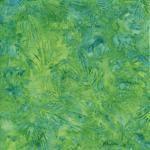 Makower Fabric Island Batiks Leaves And Foliage Bright Green