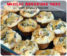 The secret ingredients in these mexican appetizer cups are Pillsbury biscuits and Doritos!!